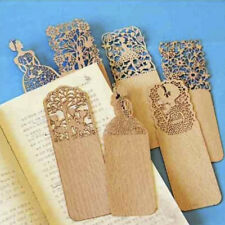 New 3x Retro Hollow Out Wooden Book Marker For Books Markers Wood Bookend New