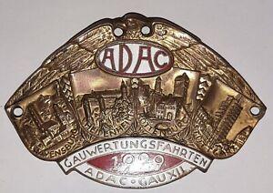 ADAC  Autoplakette Plakette GAUWERTUNGSFAHRTEN ADAC GAU XII 1929 ab 1€!!!