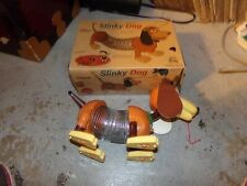 Retro Slinky Dog Pull Along Toy in Collector's Edition Original Box