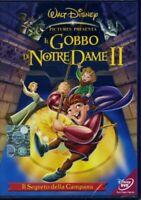 IL GOBBO DI NOTRE DAME II 2 DISNEY DVD NUOVO ITALIANO IL SEGRETO DELLA CAMPANA