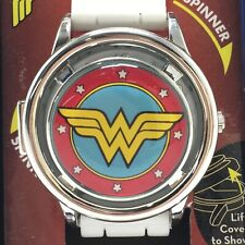 Wonder Woman DC Comics Fidget Spinner Cover Analog Watch With Collectible Tin