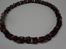 "20"" Chainmaille Stretch Necklace Byzantine Pattern CHABYZ3NEOBLAAABLARED16516"