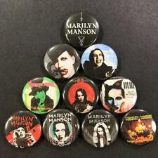 "Marilyn Manson 1"" Button Pin Set Goth Dark Rock"