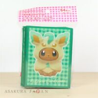 Pokemon Center Original Card Game Sleeve Eevee Poncho Series Leafeon 64 sleeves