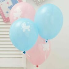 8 Tiny Feet Baby Shower Gender Reveal Party Helium Latex Balloons