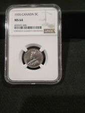 1935 NGC MS64 Canada Five Cents (#4925571-005)