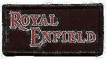 Royal Enfield Motorcycles  ---  embroidered cloth patch.  B040802