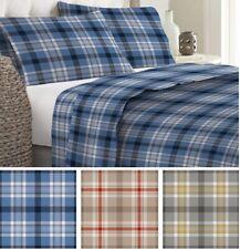 completo lenzuola invernali  FLANELLA  ANTIPILLING 100% cotone stampa scozzese