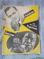 1953 Jazz Concert Programme Benny Goodman Louis Armstrong Rough Shape