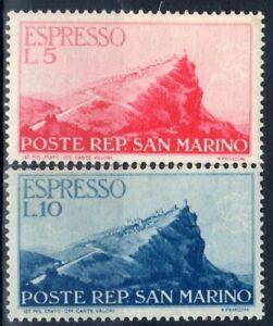1945-46 San Marino espressi Veduta - nuovi valori MNH
