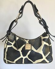DOONEY BOURKE Giraffe Print Women Shoulder Hobo Bag, Brown Ivory, Leather Purse