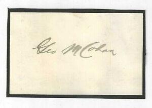 George M. Cohan Signed Slip / Autographed Composer