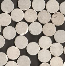 350 PCS WHITE ROUND MOSAIC ORIGINAL STONEWARE FLOOR TILES ARCHITECTURAL SALVAGE
