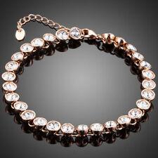 Fashion Made With Sparkle Clear White Round Swarovski Crystals Tennis Bracelet