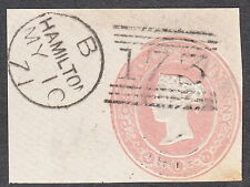 QV GB 1d Pink Embossed with V Fine Hamilton Scotland May 10th 1871 CDS Victorian