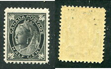 Mint Canada 1/2 Cent Queen Victoria Leaf Stamp #66 (Lot #9143)