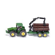 1 50 siku John Deere tractor con remolque forestal modelo