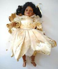 "Vintage 10"" Black Angel/Fairy Doll, Celluloid, Wings, Soft Torso into Bean bag."