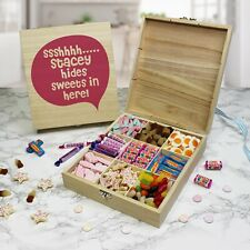Personalised Wooden Sweet Box (SSSSHHH.....)
