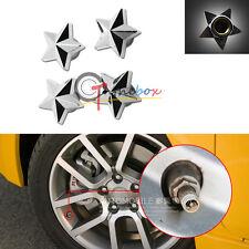 (4) Five-pointed Star Tire Wheel Valve Dust Caps Auto Wheel Valve Caps Air Dust