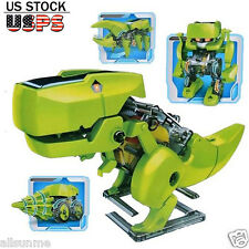 4 In 1 DIY Assemble Kids Educational Toys Solar Robot Drilling Machine Dinosaur