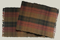 """Country Primitive CHESTNUT HILL 13"""" x 72"""" Cotton Table Runner"""
