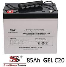 12V 85Ah Gel - Reine Bleigel Batterie Akku- USV Boot Wohnmobil Caravan C20