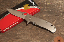 Spyderco Advocate Taschenmesser, Flipper CPM M4 Titan Framelock Gayle Bradley