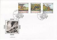 Liechtenstein FDC Ersttagsbrief 1996 Liechtensteiner Maler Mi.1138-40