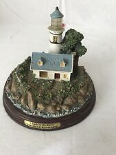 "Vintage Thomas Kinkade ""A Light In The Storm� Light Up Lighthouse Figurine"