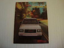 1991 GMC Sonoma Pickup Sales Brochure