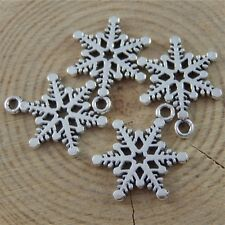 77PCS Antiqued Style Silver Alloy Small Snowflake Jewelry Charms Pendant 50008