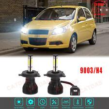 For Chevy Aveo/Aveo5 2004-2011 2PC 9003 LED Headlight Bulbs High/Low Beam 6000K