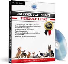 Zuchtprogramm,Züchter Software Programm Hunde,Pferde,Katzen,Vögel,Rinder,Ziegen