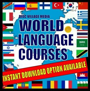 28 Language Courses QUICK to Learn Method MP3 Audio/Text Lessons on 4 PC-DVDs