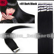 """Tape in 100% Real Human Hair Extensions 16""""18""""20""""22""""24"""" Full Head Factory Price"""