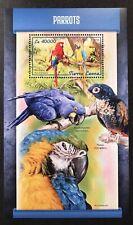 SIERRA LEONE PARROTS STAMPS SOUVENIR SHEET 2018 MNH PARROT BIRDS SCARLET MACAW