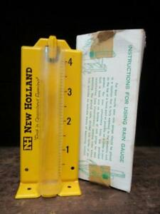 "1970's Circa NEW HOLLAND Farming Equipment Rain Gauge in Box ""First in Grassland"