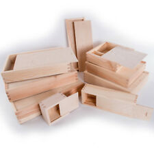 Wooden Storage Boxes with Sliding Lid / Photo Pendrive Memory Keepsake Boxes