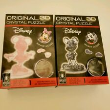 Bepuzzled Original 3D Crystal Puzzle - Mickey Mouse, 2nd edition & Minnie Mouse