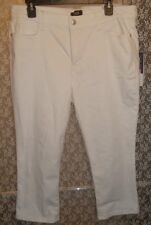 8P S Petite Capri Jeans NYDJ Alina Lift & Tuck X Stretch Shaping Optic White NWT
