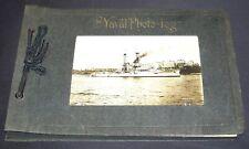 Original Empty 1920's U.S. Navy Uss Florida Photo Log Album Book