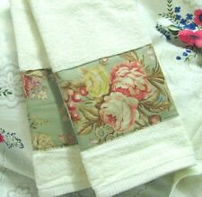 RALPH LAUREN Original CHARLOTTE with Sage on White Towels /2 Towels