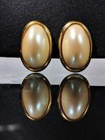 Lovely Vintage Richelieu Jewellery Faux Pearls Earrings