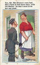 POSTCARD  COMIC  DONALD McGILL  Yes Sir  mrs Brown's very bad....