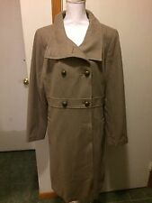 OLD NAVY Xl Wool Blend Tan Dress Coat
