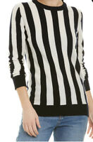 Magaschoni 100% Cashmere Striped Pullover Sweater XS NEW