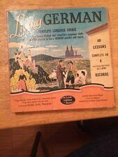 Vintage Living German Language Course Complete 4-331/3 Rpm Records