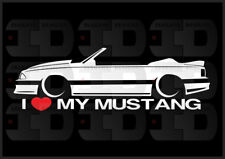 I Heart My Mustang Sticker Love Ford Slammed Fox Body 5.0 V8 GT Convertible Vert
