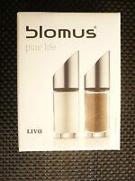 Blomus Livo Salz- + Pfefferset  63581  Neu + OVP Geschenk Sonderpreis - TOP